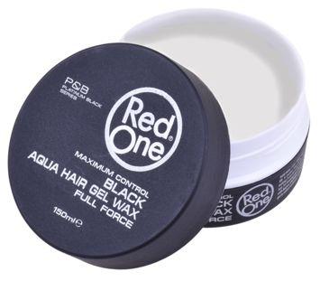 RedOne AQUA HAIR GEL WAX FULL FORCE BLACK Wodny żelowy wosk do włosów 150 ML