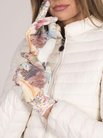Rękawiczki z kolorowym nadrukiem