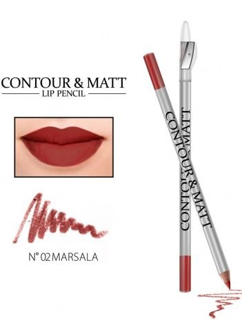 Revers Kredka do ust z temperówką CONTOUR & MATT nr 2 marsala 2g