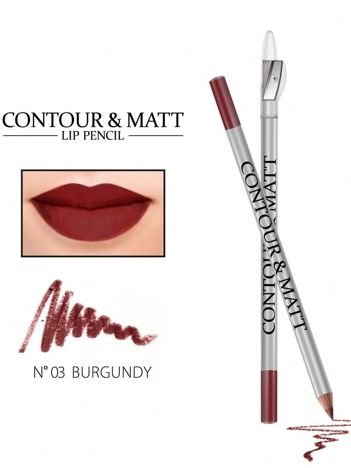Revers Kredka do ust z temperówką CONTOUR & MATT nr 3 burgundy 2g