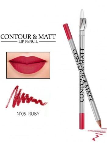 Revers Kredka do ust z temperówką CONTOUR & MATT nr 5 ruby 2g