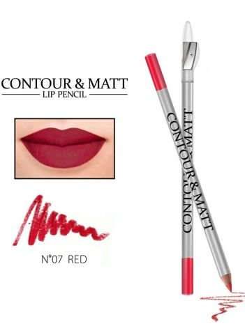Revers Kredka do ust z temperówką CONTOUR & MATT nr 7 red 2g