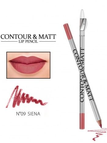 Revers Kredka do ust z temperówką CONTOUR & MATT nr 9 siena 2g