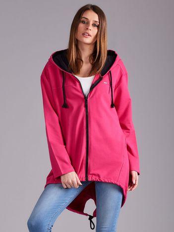 Różowa bawełniana bluza z kapturem