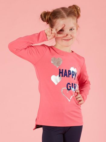 Różowa bawełniana bluzka dla dziewczynki