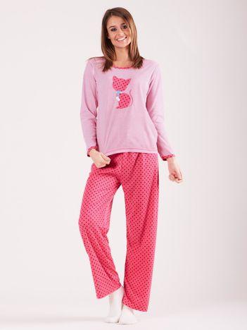 Różowa bawełniana piżama