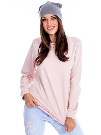 Różowa bluza damska basic