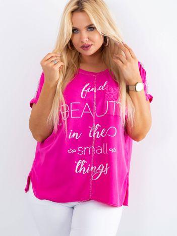 Różowa bluzka Delicious PLUS SIZE