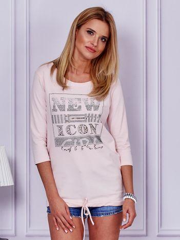 Różowa bluzka New Icon