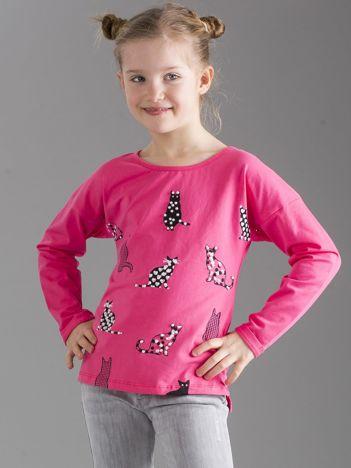 Różowa bluzka dla dziewczynki w koty