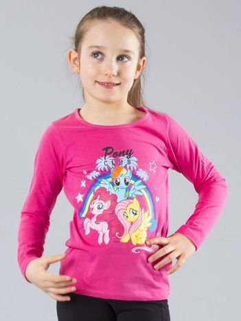Różowa bluzka dziewczęca z nadrukiem MY LITTLE PONY