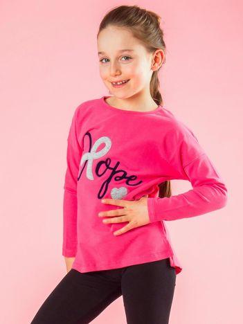 Różowa bluzka dziewczęca z napisem