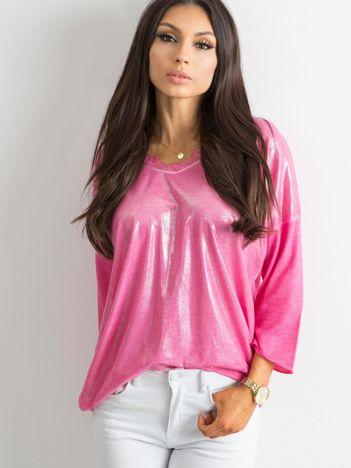 Różowa bluzka z delikatnym połyskiem