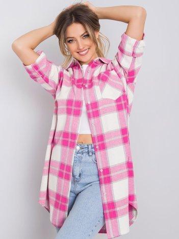 Różowa koszula w kratę Nerea