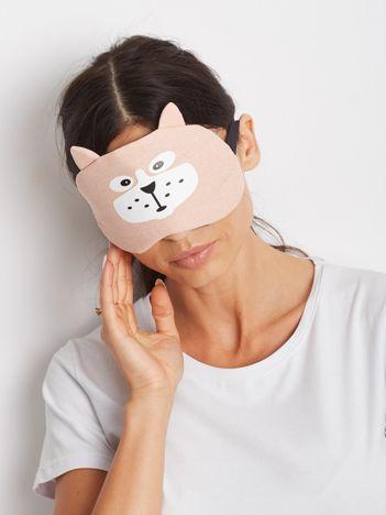Różowa maska do spania na oczy