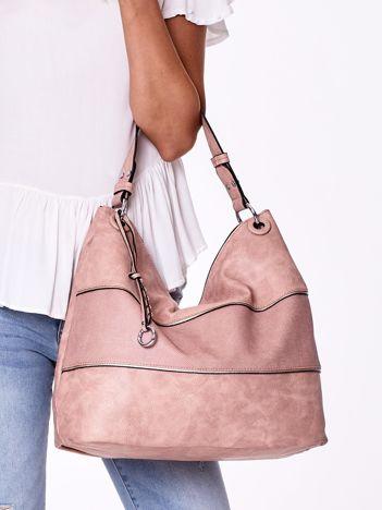 Różowa modułowa torba w miejskim stylu