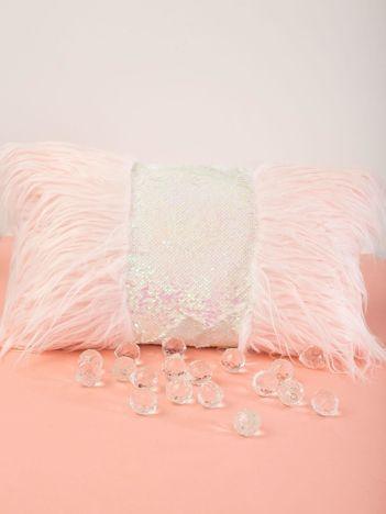 Różowa poduszka z cekinami