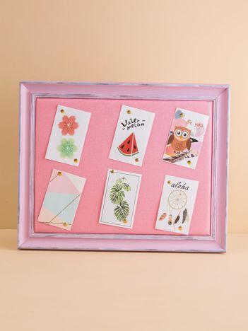 Różowa prostokątna ramka na zdjęcia