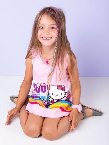 Różowa sukienka dla dziewczynki HELLO KITTY