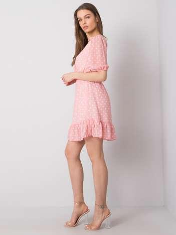 Różowa sukienka z falbaną Paloma SUBLEVEL