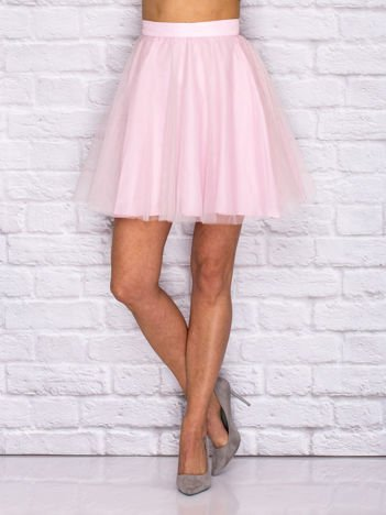 Różowa tiulowa spódnica