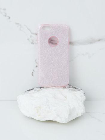 Różowe brokatowe etui do iPhone 6G