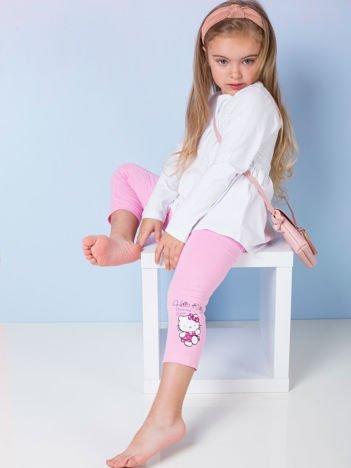 Różowe legginsy dla dziewczynki HELLO KITTY