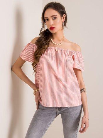 Różowo-biała bluzka Kittie