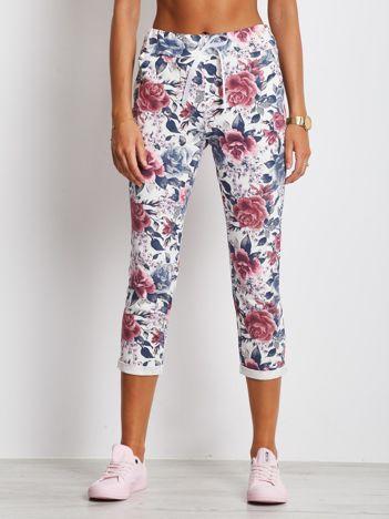 Różowo-białe spodnie Roses