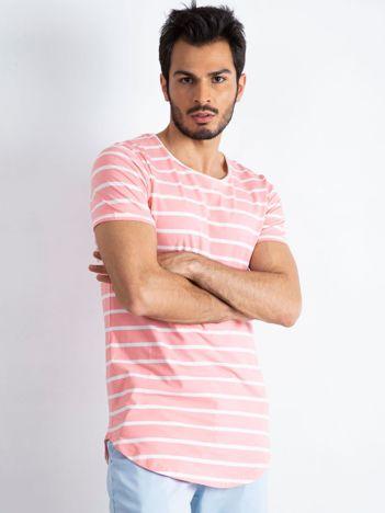 Różowo-biały t-shirt męski Whipped