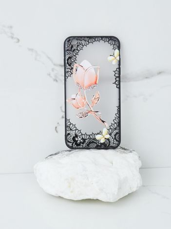 Różowo-czarne etui do iPhone 6 Plus