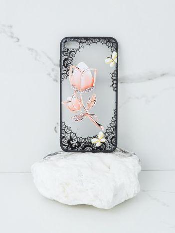 Różowo-czarne etui iPhone 7 Plus iPhone 8 Plus
