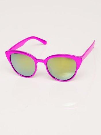 Różowo-fioletowe Dziecięce Okulary przeciwsłoneczne Z Metalicznym Połyskiem