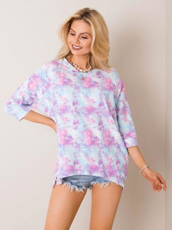 Różowo-niebieska bluza Katherine RUE PARIS