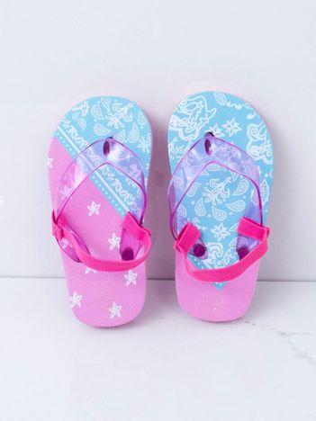 Różowo-niebieskie japonki dziecięce