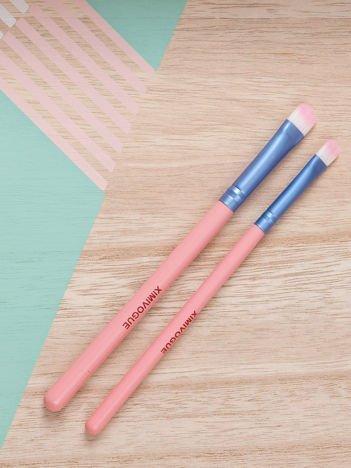 Różowo-niebieskie pędzelki do makijażu