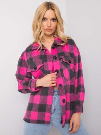 Różowo-szara koszula w kratę Melany