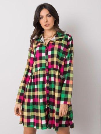 Różowo-zielona sukienka oversize Constanza