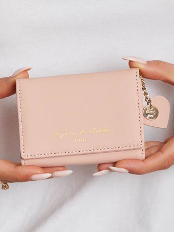 Różowy mini portfel