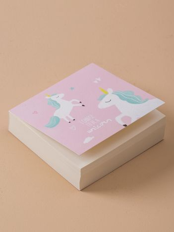 Różowy notes z jednorożcem