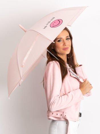 Różowy parasol półautomatyczny