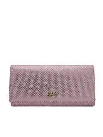Różowy podłużny portfel damski
