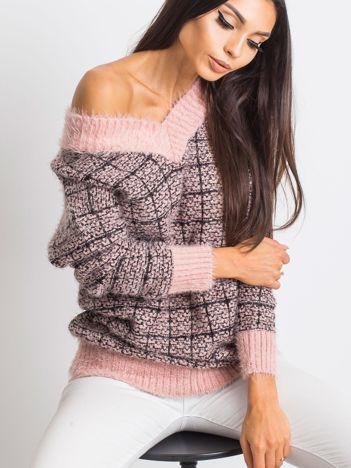 Różowy sweter Happiness