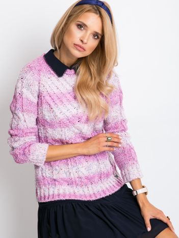 Różowy sweter Rave