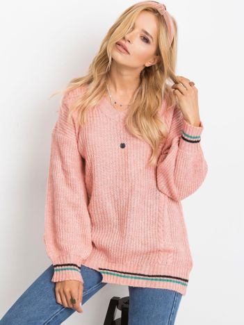 Różowy sweter Romance