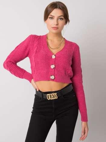 Różowy sweter rozpinany Aristide RUE PARIS