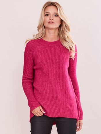 Różowy sweter w prążek