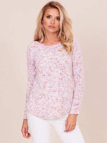 Różowy sweter z szenili