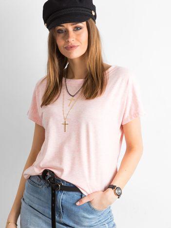 Różowy t-shirt Fire