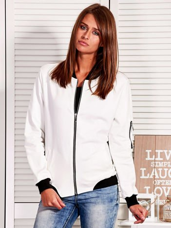 Rozpinana bluza z naszywką LOVE ME TENDER biała